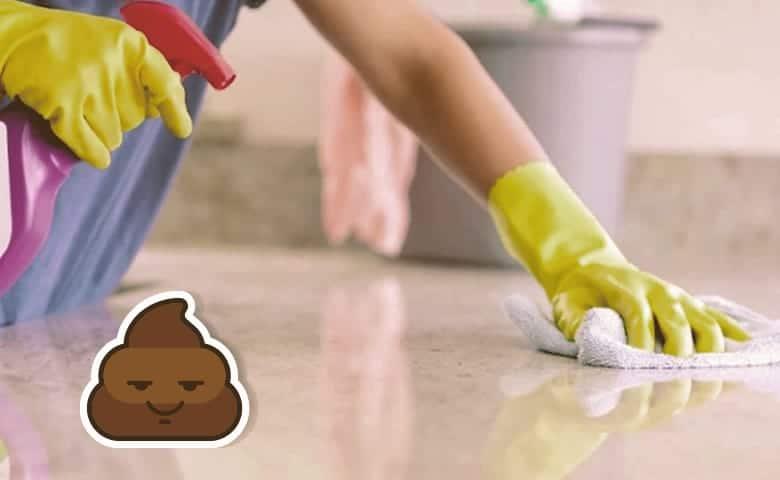 cleaning poop