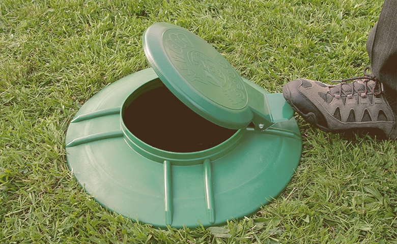 open Pet Waste Disposal System